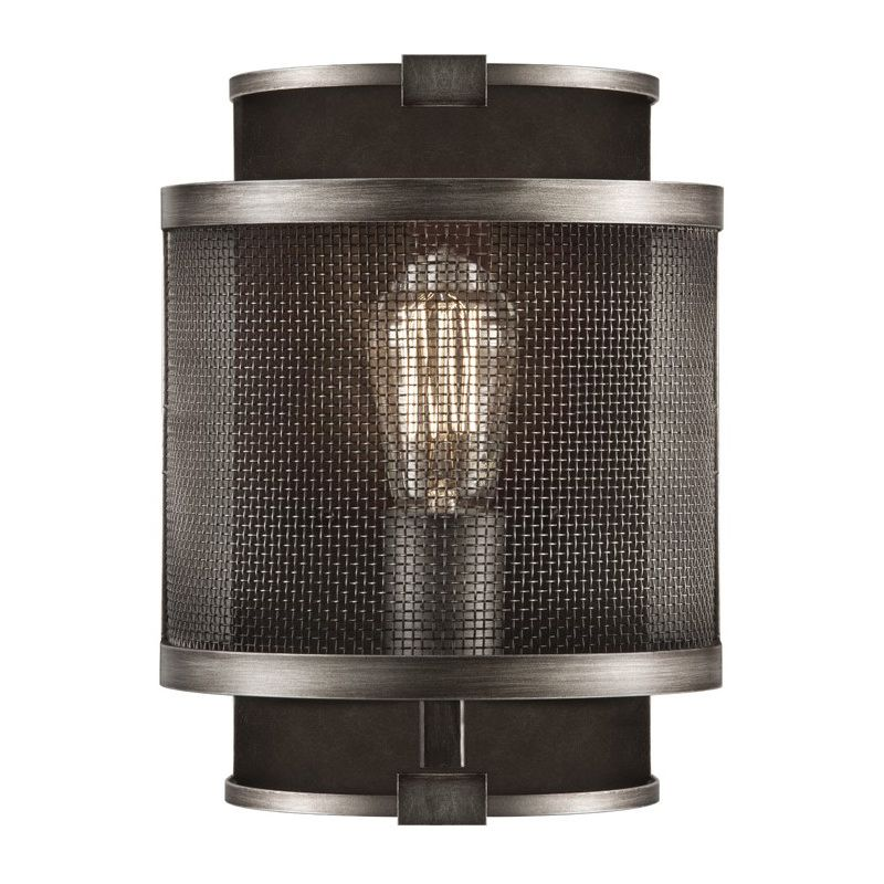 Fine Art Lamps 800550ST Relativity Single-Light Wall Sconce with Mesh