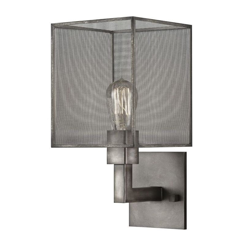 Fine Art Lamps 801150ST Relativity Single-Light Wall Sconce with Mesh