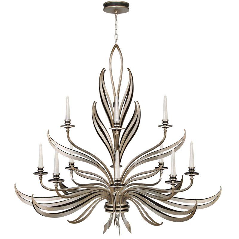 Fine Art Lamps 815140ST Villandry Silver Twelve-Light Two-Tier