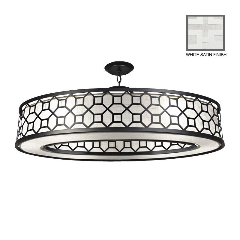 "Fine Art Lamps 816640-5GU Black+White Story 45"" Diameter Six-Light"