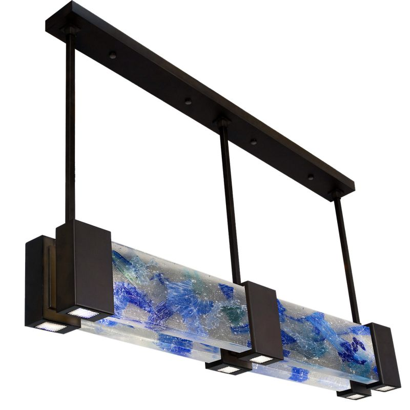 "Fine Art Lamps 825040-12ST Crystal Bakehouse 55"" Wide Six-Light Linear"