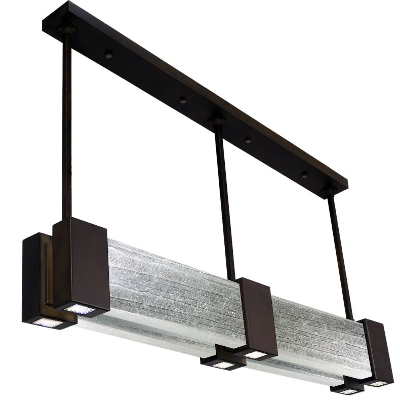 "Fine Art Lamps 825040-13ST Crystal Bakehouse 55"" Wide Six-Light Linear"