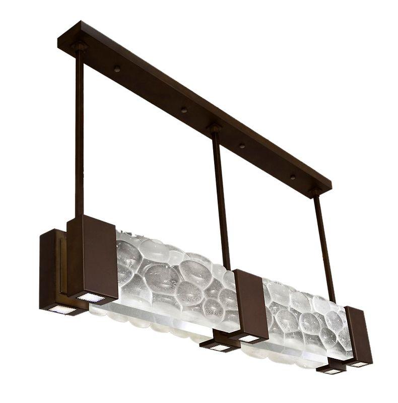 "Fine Art Lamps 825040-14ST Crystal Bakehouse 55"" Wide Six-Light Linear"