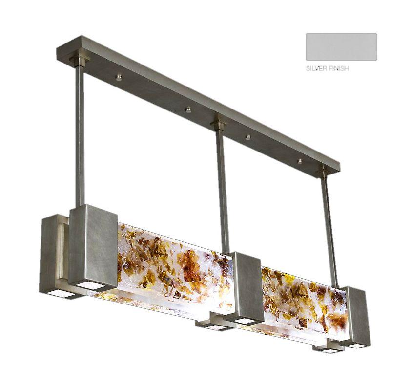 "Fine Art Lamps 825040-21ST Crystal Bakehouse 55"" Wide Six-Light Linear"
