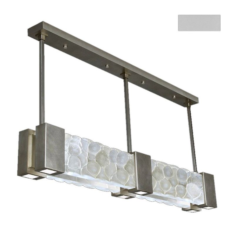 "Fine Art Lamps 825040-24ST Crystal Bakehouse 55"" Wide Six-Light Linear"