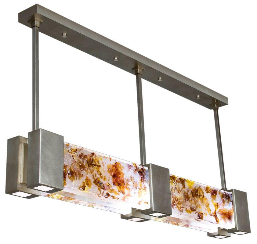 "Fine Art Lamps 825040-31ST Crystal Bakehouse 55"" Wide Six-Light Linear"