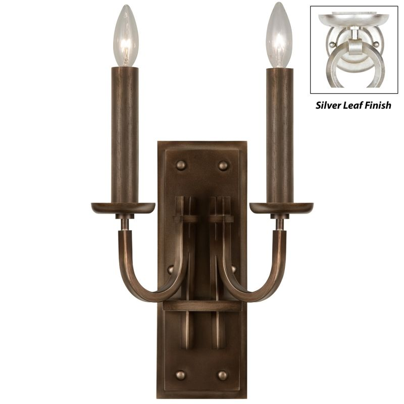 Fine Art Lamps 861150-2ST Liaison Two-Light Wall Sconce with Bold