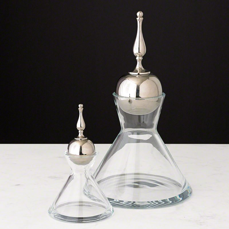 Global Views Finial Decanter - Available in 2 Sizes Large Decanter