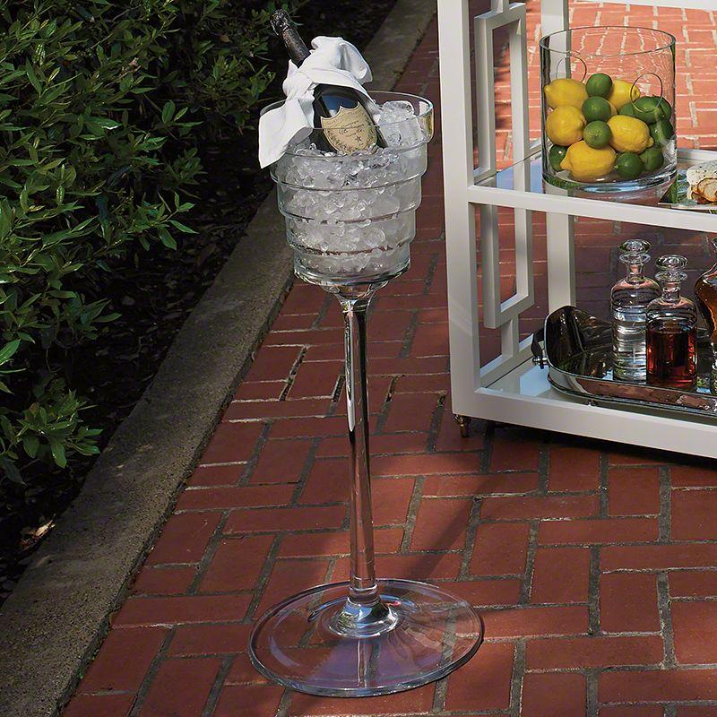 Global Views 1.10198 Devo Footed Ice Bucket Chrome Home Decor Barware