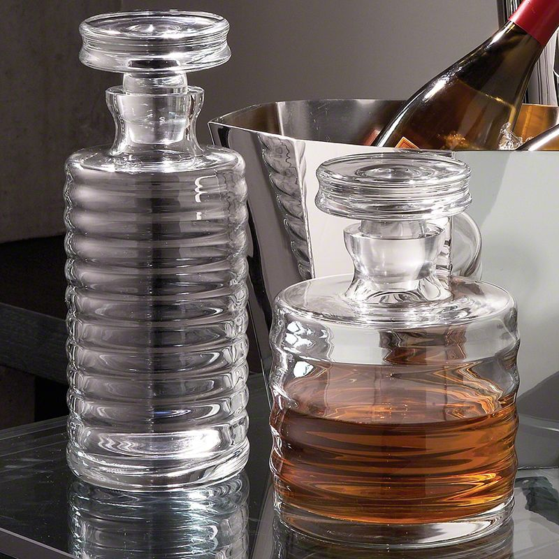 Global Views 1607 Ribbed Decanter Clear Home Decor Decanters