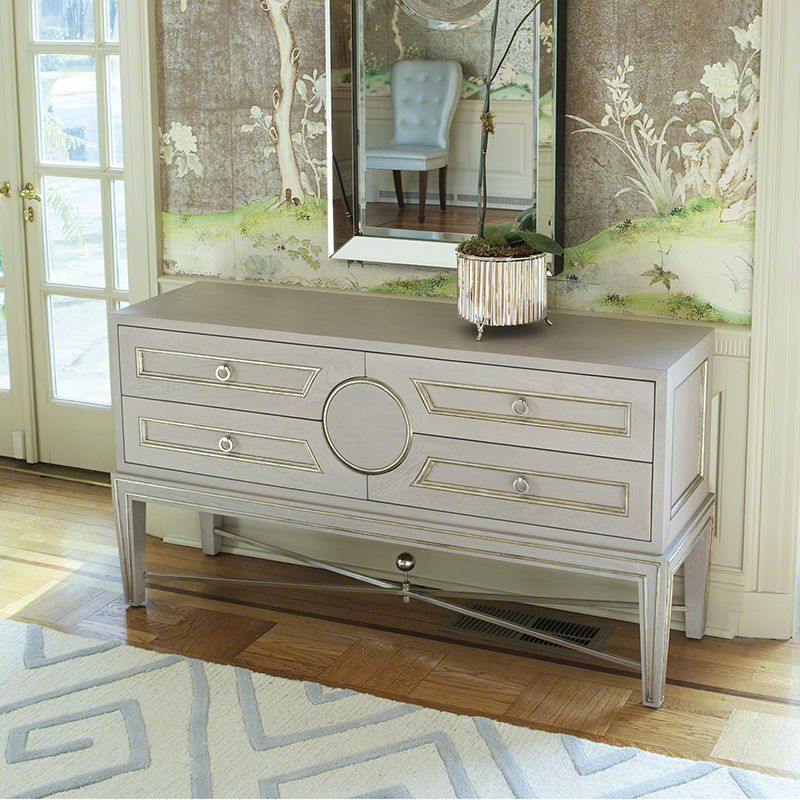 Global Views 2451 Collector´s Console-Grey Grey Furniture Console