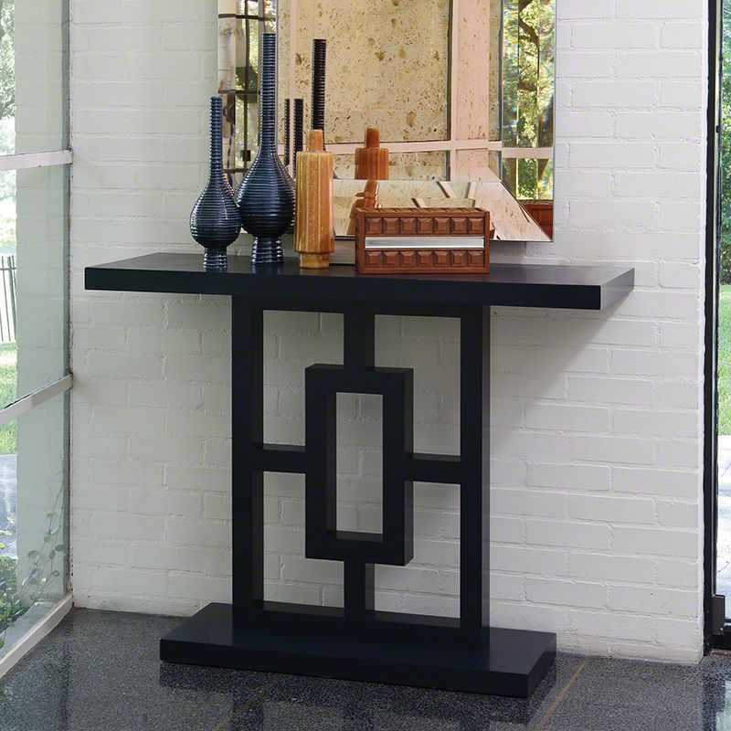 Global Views 2493 Grid Block Console Ink Ink Furniture Console Tables