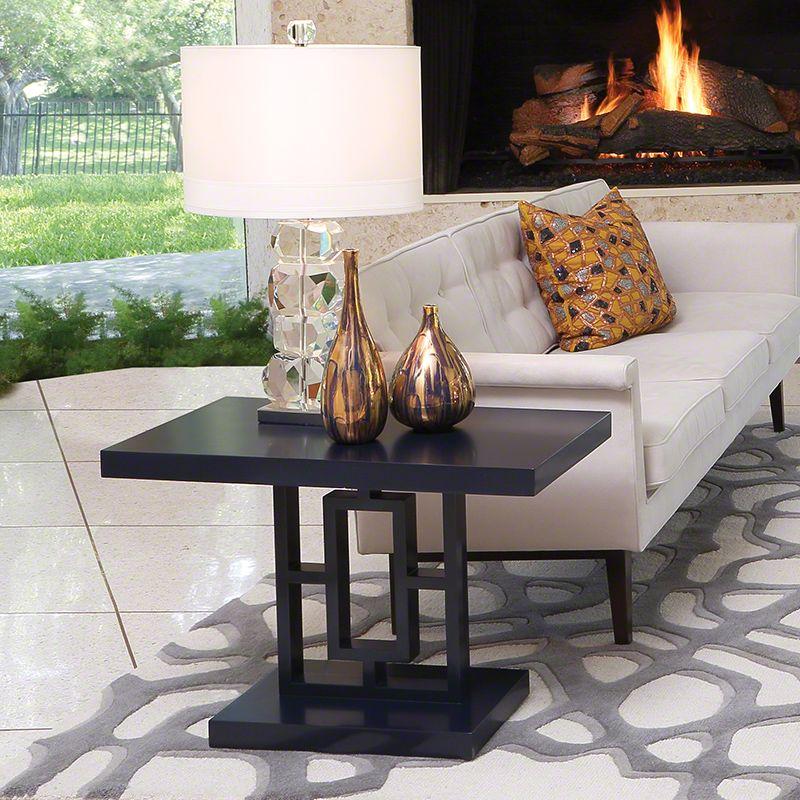 Global Views 2494 Grid Block Side Table Ink Furniture End Tables