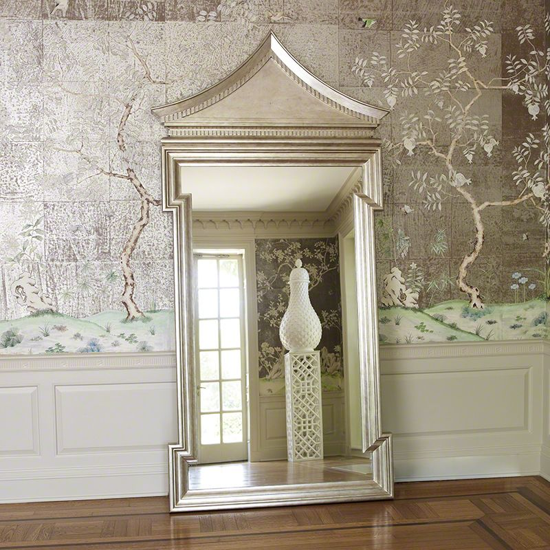 "Global Views 4.20024 Fincastle Hall Mirror 96"" x 45"" Antique Silver"