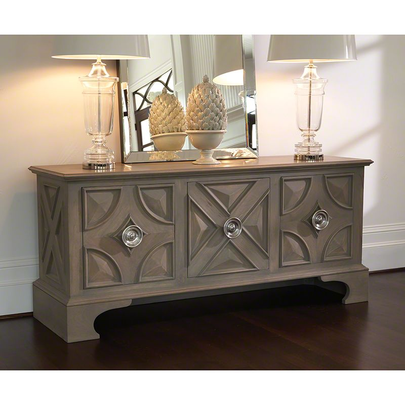 Global Views 4.90074 Westmoreland Cabinet Grey Furniture Media