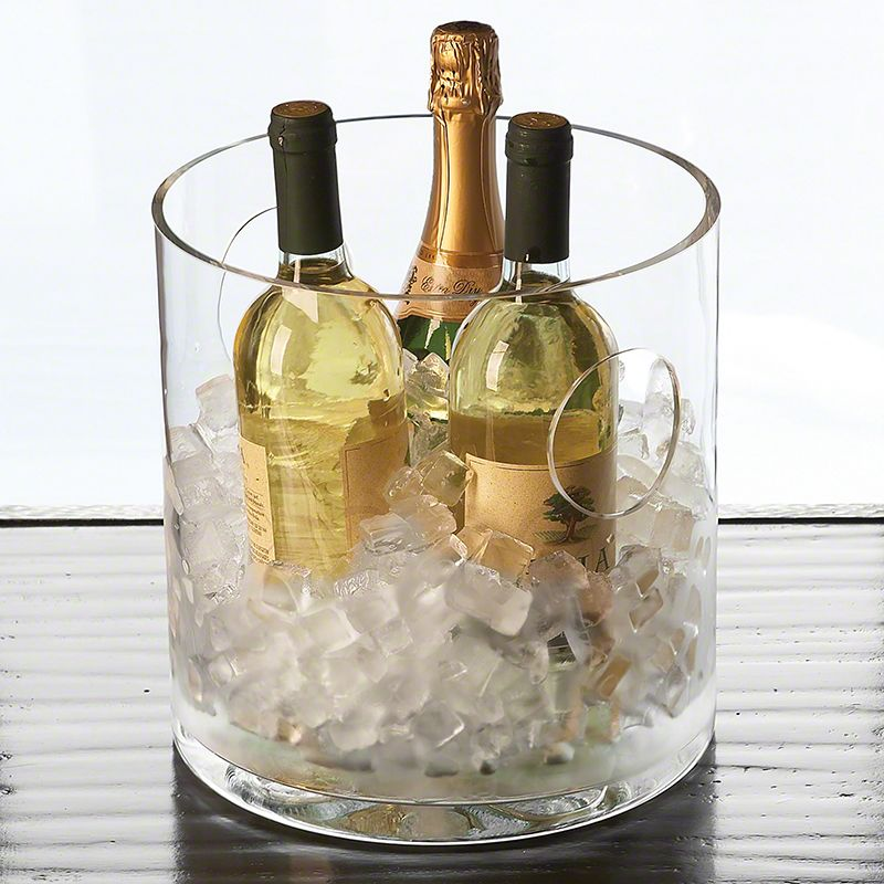 Global Views 6.60010 Round Ice Bucket Cooler Clear Home Decor Barware
