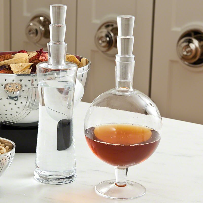 "Global Views 6.60163 13.5"" Ollie Decanter Clear Home Decor Decanters"