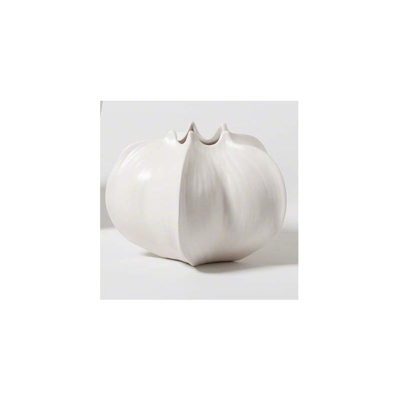 Global Views 7.10051 Star Fruit Ceramic Vase Small White Home Decor