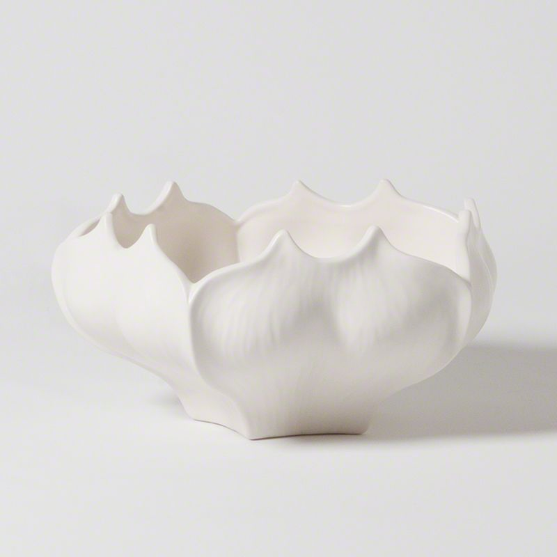 Global Views 7.10052 Star Fruit Ceramic Bowl White Home Decor