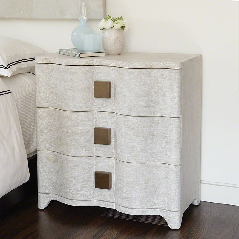 Global Views 7.20053 Toile Linen Bedside Chest Toile Furniture
