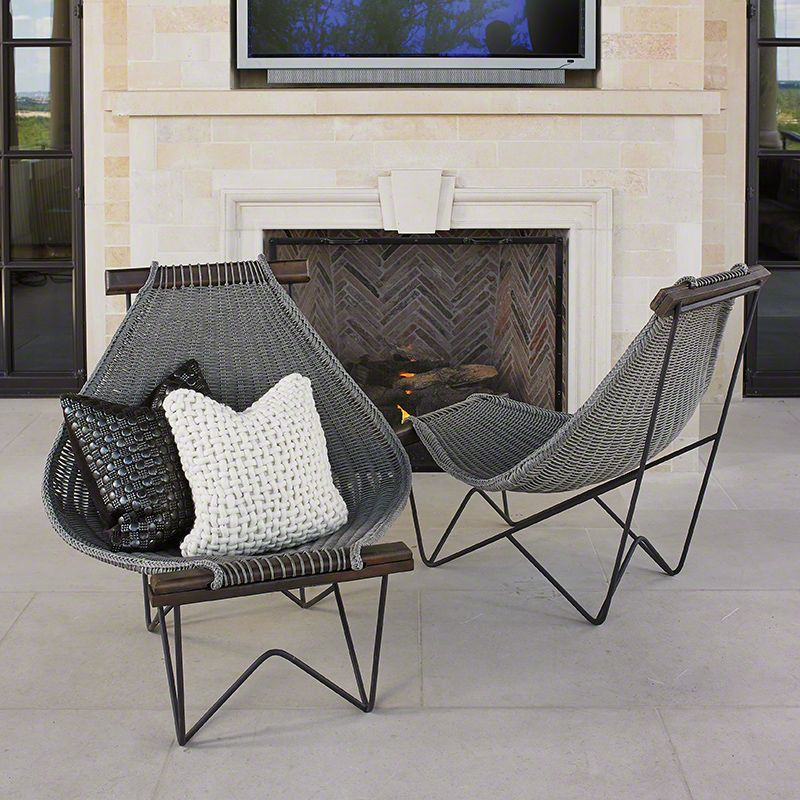 Global Views 7.20074 Spinnaker Chair Grey Furniture Outdoor Lounge
