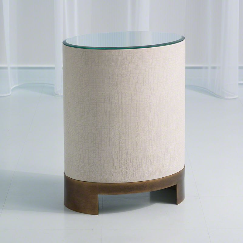 Global Views 7.20087 Ellipse Accent Table White Oak Furniture End