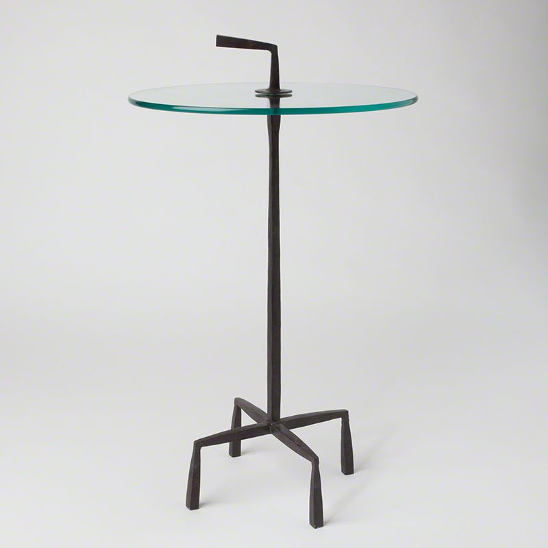 """Global Views 7.80216 16"""" Quad Pod Accent Iron Table Iron Furniture End"""