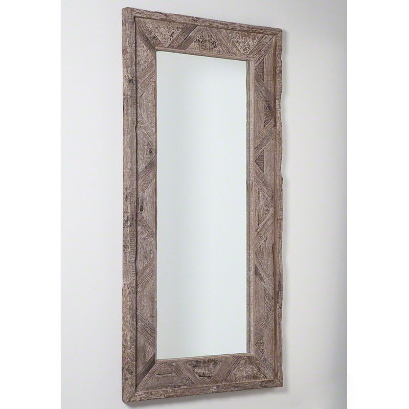 "Global Views 7.90253 Deer Valley Rectangular Floor Mirror 84.5"" x"