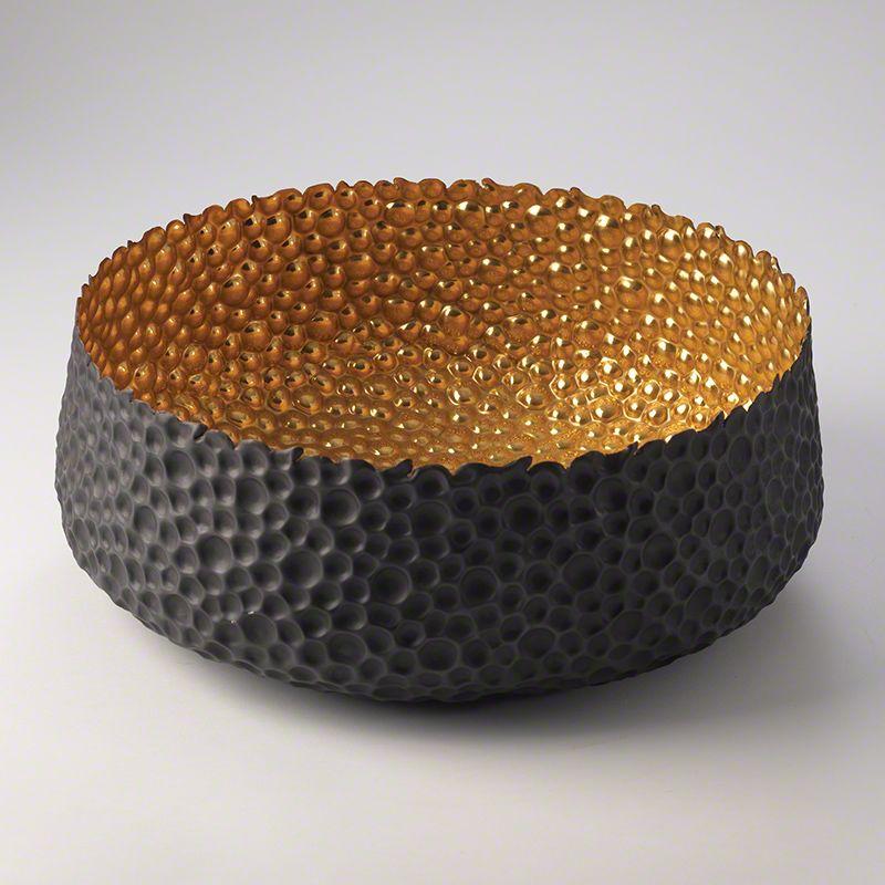 "Global Views 7.90274 Sundara 18"" Hammered Solid Brass Bowl Brass Home"