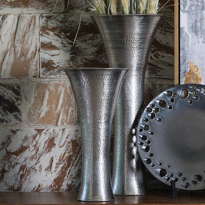 Global Views Antique Nickel Indira Vase - Available in 2 Sizes 32 Inch