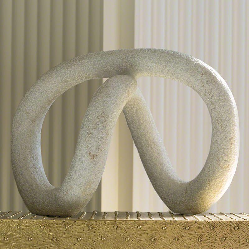 Global Views 7.90463 Knott Sculpture White Home Decor Statues &