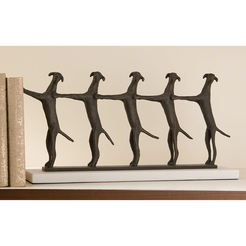 Global Views 8.80332 Golden Conga Line Bookend Gold Home Decor