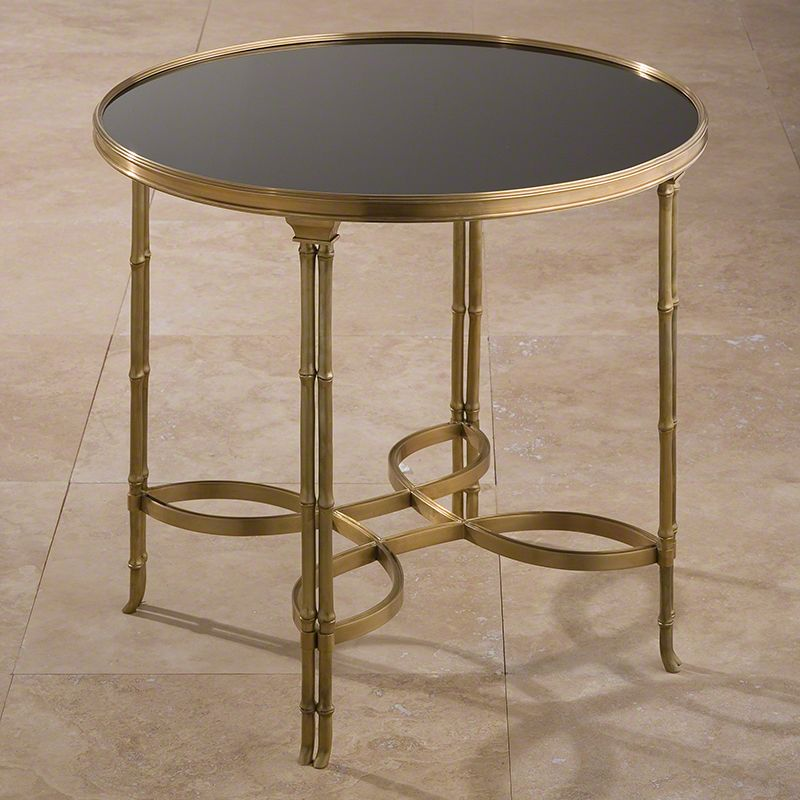 "Global Views 8.80499 Double Bamboo Leg 30"" Table Brass Furniture End"