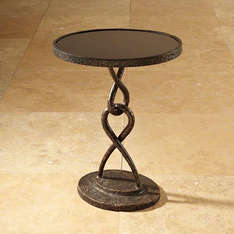 Global Views 8.81681 Loop De Loop Iron Table Bronze Furniture End