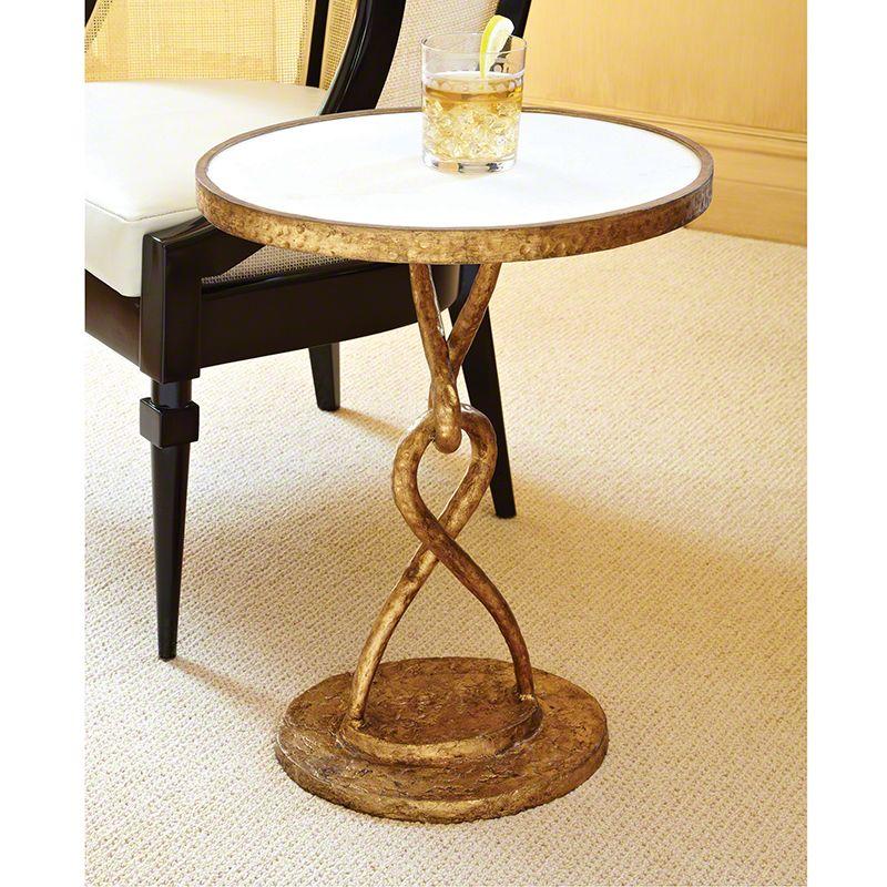 Global Views 8.81682 Loop De Loop Iron Table Gold Furniture End Tables
