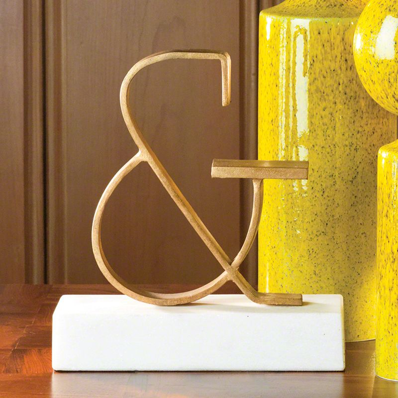 Global Views 8.81687 Ampersand Iron Objet Gold Home Decor Statues &