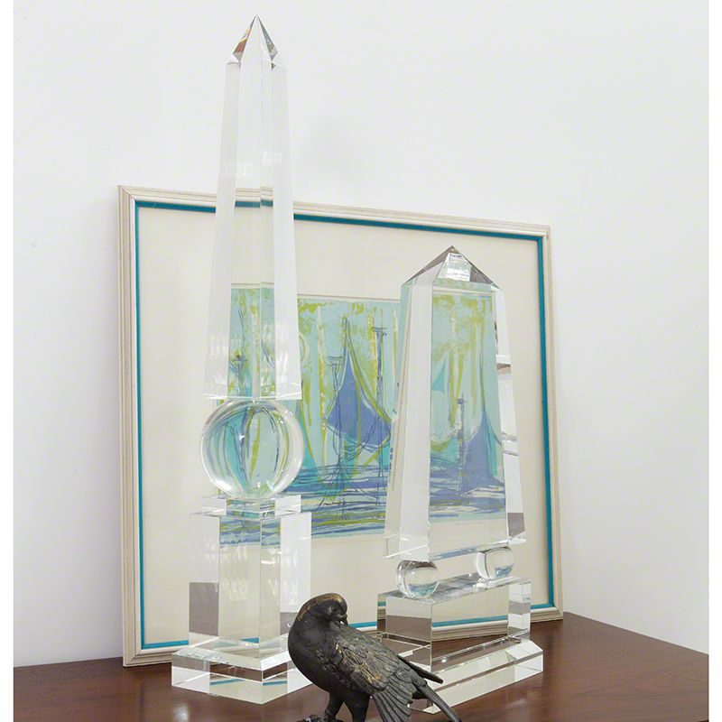 Global Views Crystal Obelisk Statue - Available in 2 Sizes Tall Statue