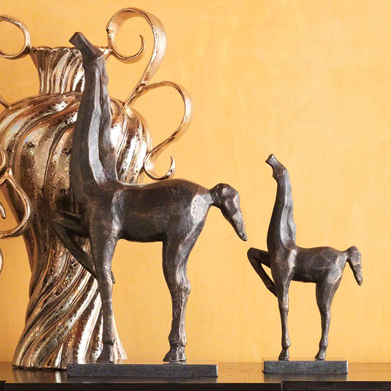 Global Views Bronze Cubist Horse Statue - Available in 2 Sizes Large