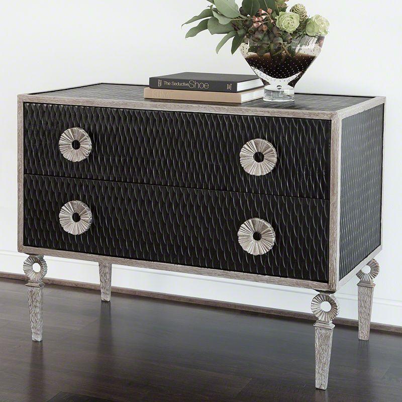 Global Views 9.90781 Artisan 2 Drawer Storage Chest Iron Furniture