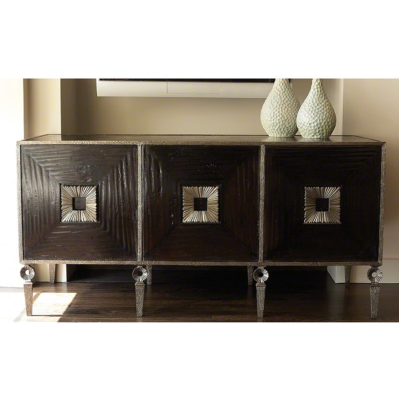 Global Views 9.90873 Artisan Media Cabinet Iron Furniture Cabinets