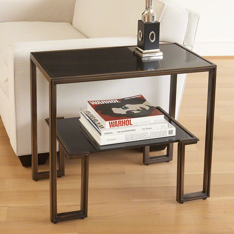 Global Views 9.91081 One-Up End Table made from Copper Plated Iron
