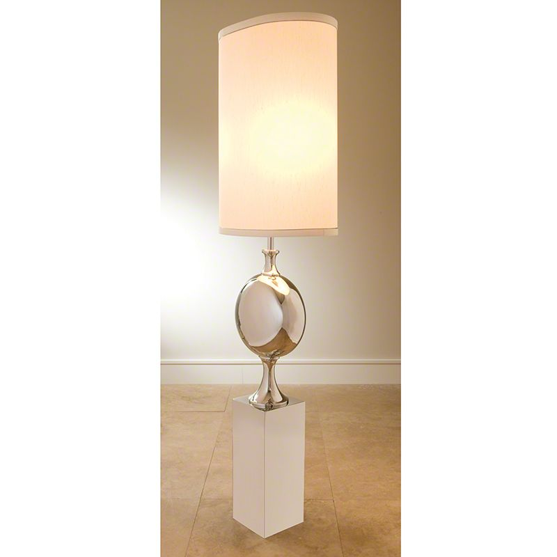 Global Views 9.91101 2 Light Accent Table Lamp Nickel Lamps Accent