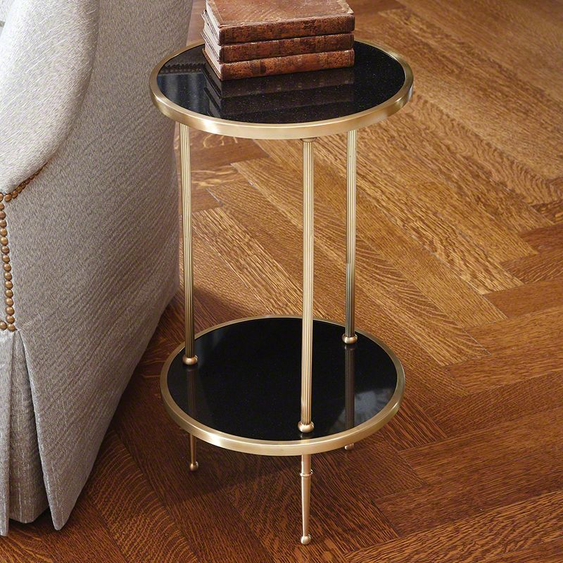 """Global Views 9.91248 Petite 2 Tiered 12.25"""" Table Brass Furniture End"""