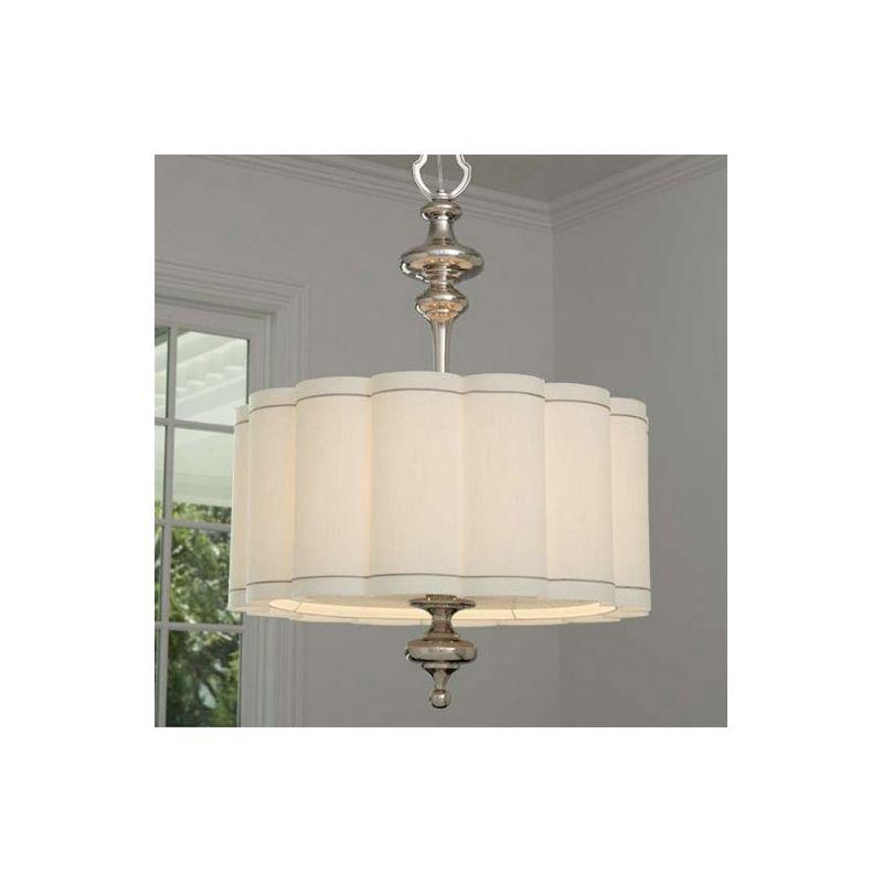 Global Views 9.91256 4 Light Drum Pendant Nickel Indoor Lighting