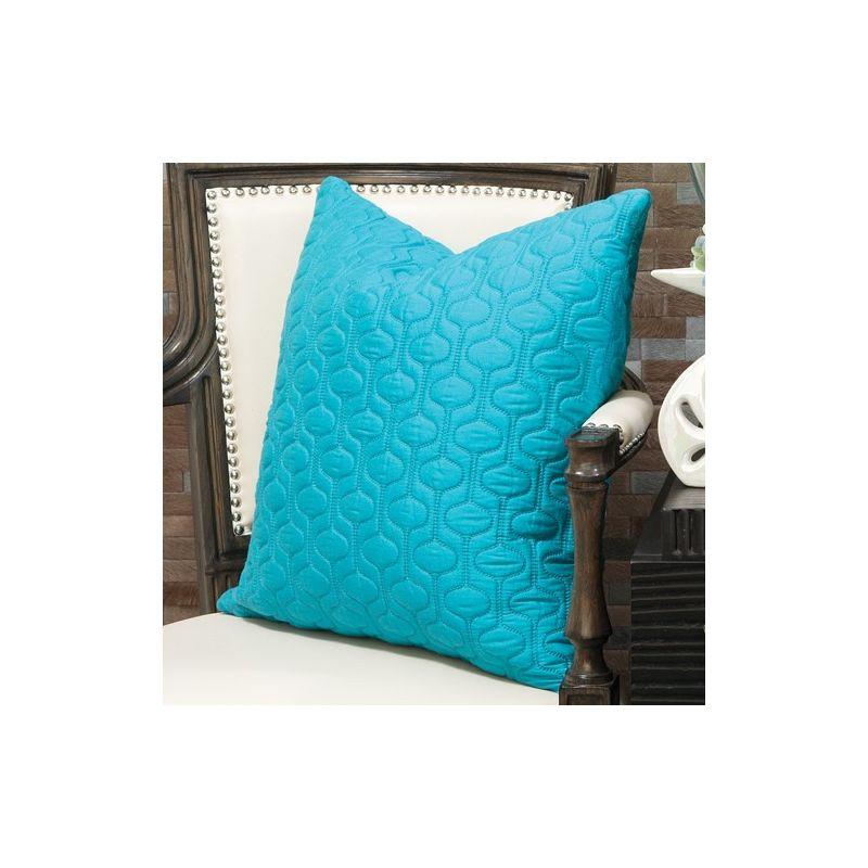 Global Views 9.91391 Bjorn Square Pillow Teal Home Decor Pillows