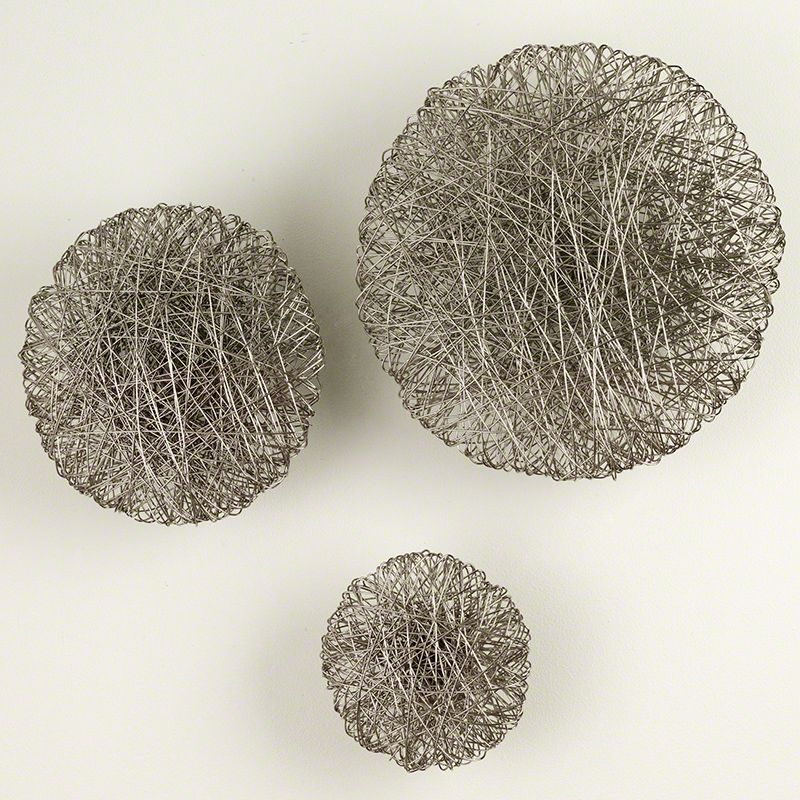 Global Views Wired Nickel Wall Disc - Available in 3 Sizes 13 Inch