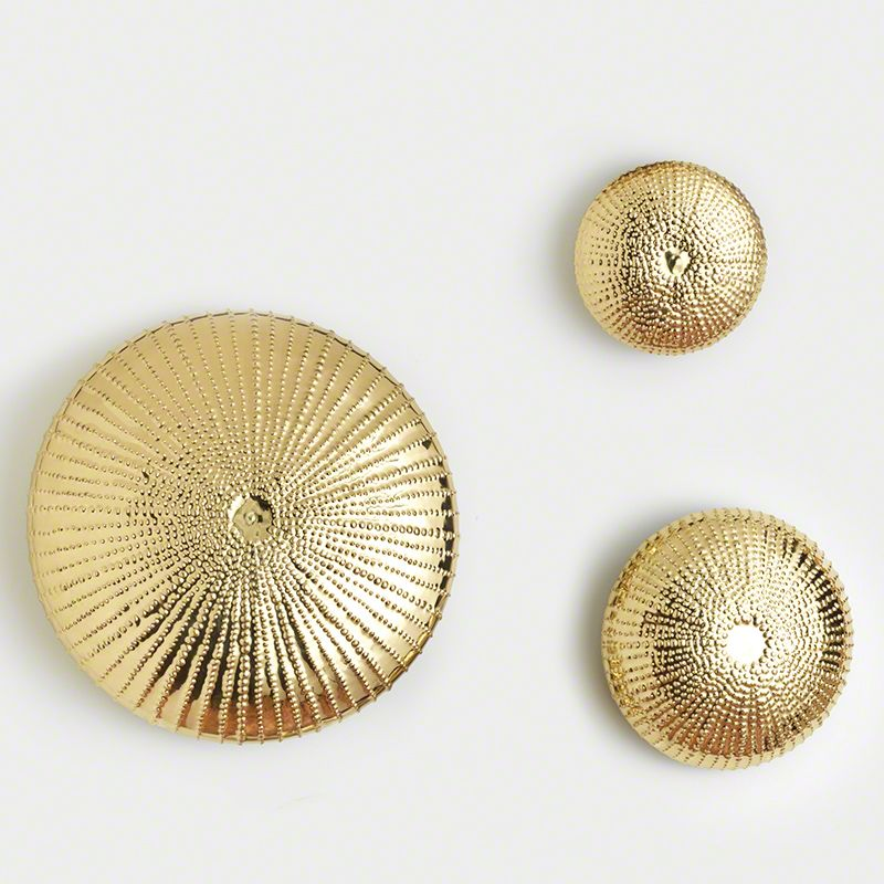 Global Views Sea Urchin Gold Wall Sculpture - Available in 3 Sizes 12