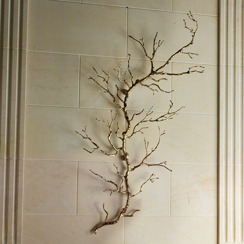Global Views 9.92246 Twig Solid Cast Brass Hand Polished Wall Art