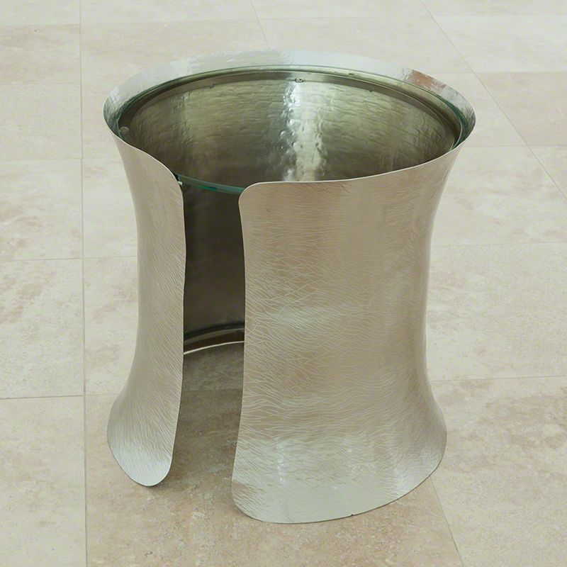 "Global Views 9.92251 Cuff Side Table Nickel Plated 18.5"" Diameter"