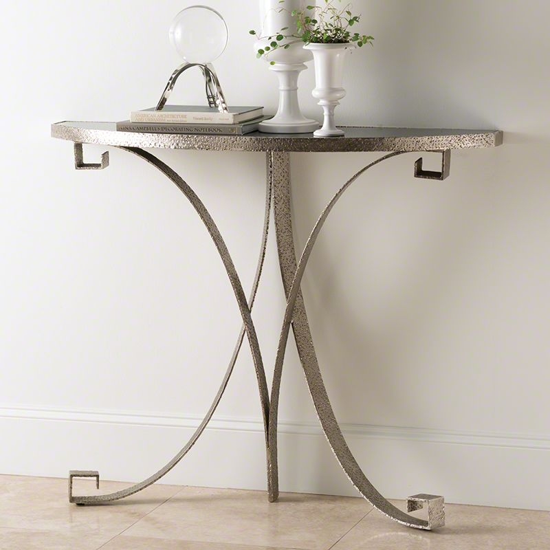 Global Views Greek Key Demilune Console with Iron Base and Marble Top Sale $822.50 ITEM#: 2713407 MODEL# :9.92366 UPC#: 651083923665 :
